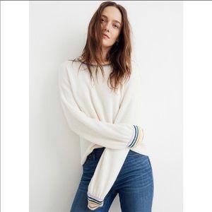 Madewell Gladwell Sweater Rainbow Stripe Ivory